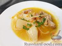 Суп из мяса кролика с макаронными изделиями