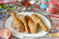 Курица горячего копчения (в коптильне на газовой плите)