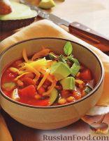 Вегетарианское чили с фасолью и кукурузой