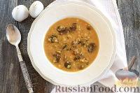 Шотландский грибной суп с овсяными хлопьями