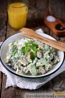 Салат с мидиями и огурцом