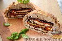 Сэндвич Пан-банья (Pan bagnat) с ветчиной