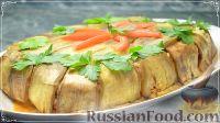 Торт из баклажанов, с курицей и рисом (запеченный в духовке)