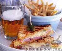 Сэндвич «Рубен» с ветчиной