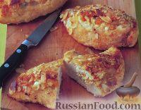 Миндально-абрикосовая курица с мятным соусом песто
