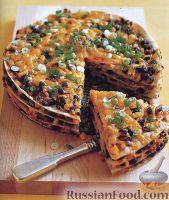 Пирог с фасолью и кукурузой