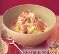 Суп кокосовый с креветками