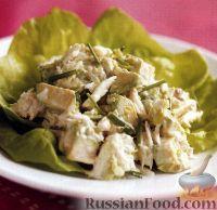 Салат с мясом крабов и авокадо