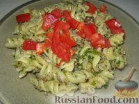 Паста с овощами со сливочным соусом