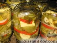 Салат из зеленых помидоров и кабачков
