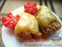 Перец, фаршированный рисом и баклажанами