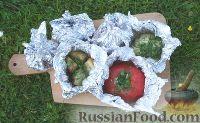 Печёные овощи на мангале