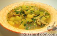 Суп с кабачком и грибами