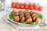 Пирожки из тостового хлеба, с консервированной рыбой
