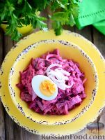 Скандинавский свекольный салат с сельдью
