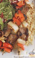 Шашлычки из говядины, с овощами
