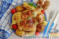 Курица в пикантном маринаде с хреном, запеченная в рукаве
