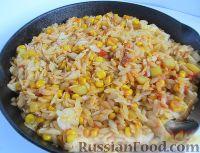 Ризони с кукурузой и овощами