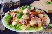 Салат с пекинской капустой и рыбной консервой