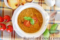Суп с баклажанами и цуккини, по-корсикански