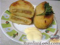 Картофельные зразы с капустой постные