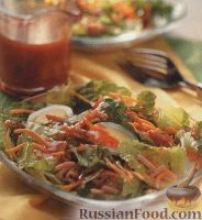 Салат легкий с миндалем