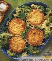 Тарталетки с сырно-крабовой начинкой