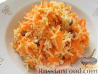 """Салат """"Чистое здоровье"""" из моркови, яблок и изюма"""