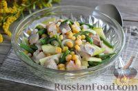 Салат с соленой скумбрией