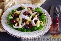 Салат из кальмаров, грибов и сыра