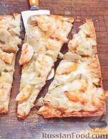 Пицца из лаваша с креветками и артишоками