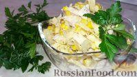 Салат с куриной грудкой и яичными блинчиками