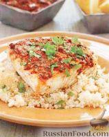 Рыба, запеченная с кускусом
