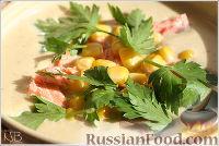 Сливочный крем-суп-пюре с семгой
