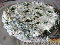 Салат слоеный из печени