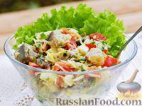 Селёдочный салат с сырной заправкой