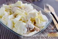 Салат с курицей, пекинской капустой и фетой