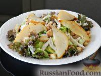 Тёплый салат с грушей