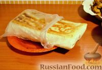 Шаверма (шаурма) со свининой, курицей, картофелем