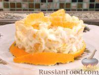 """Салат """"Мандариновый шок"""" из мандаринов и сыра"""