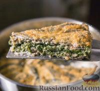 Рыбная запеканка с сыром и шпинатом