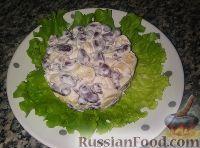 Салат с фасолью и сухариками (за 5 минут)