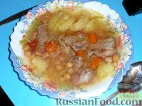 Шурбо (суп с горохом)