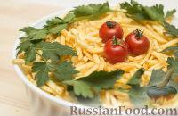 Слоеный салат с грибами, курицей и картошкой фри