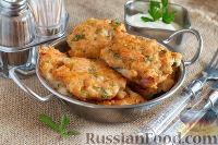 Куриные котлеты с сыром и зеленью