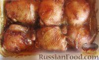 Куриные бёдра под медовым соусом (в духовке)