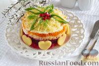 Слоеный салат с картофелем, морковью и свеклой