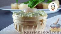 Тарталетки с авокадо, креветками и сыром