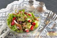 Овощной салат с консервированным тунцом