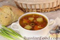 "Быстрый суп с колбасками ""Охотник"""